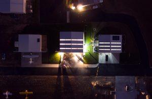Kyle Gardner's very cool drone image of Hangar Happy Hour