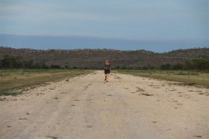 On a Stawell Aviation safari, pilot Alison takes an early morning run along the strip.