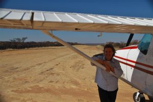 At Welli West in Botswana, with my lovely old C182, that I grew to love over the 12 day safari.