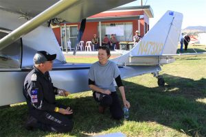 GA pilot Georgie Wason, snares some one-on-one time with Michael.