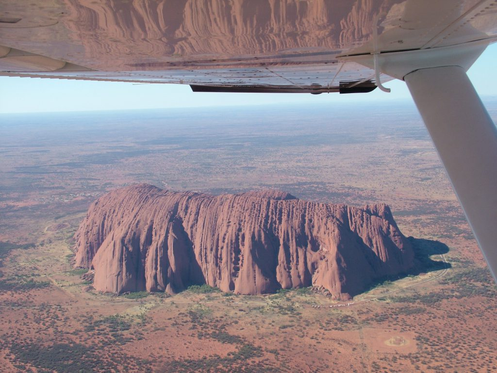 Flying the scenic at Ayers Rock