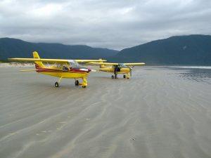 Beach landings at Big Bay