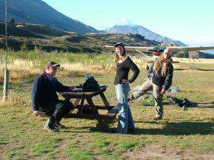 Ruth, Mitch & Wayne take a break from flying