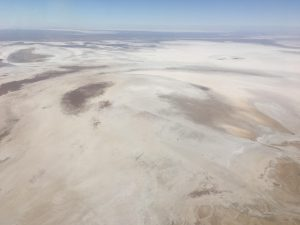 The blinding salt flats of Lake Eyre. BYO water.