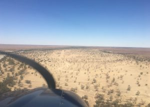 Very hard to spot the airstrip at the Dig Tree.