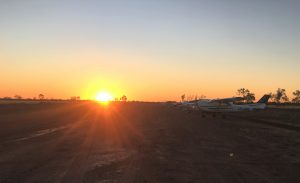 Gotta love an Australian outback sunset on a dirt airstrip.