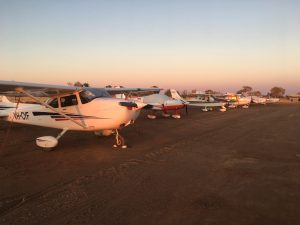 Premium parking no problem for our little fleet as the sun goes down.