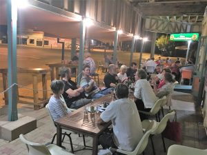 Dining streetside at Tattersalls is a highlight on our safaris. Legendary steaks, always a fantastic night.