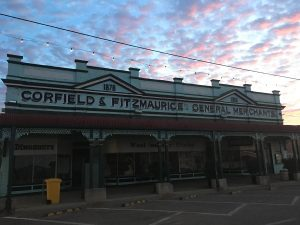 Now heritage listed, the magnificent Corfield and Fitzmaurice general store opened its doors in 1878 and served the region proudly for the next 109 years.