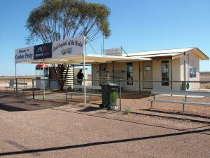 Coober Pedy International. Welcome. We even have a toilet.