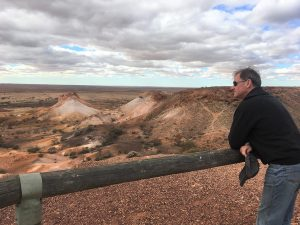 Vantage point across the painted landscape on an Arid Areas Tour to the Breakaways.