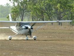 Curtis Aviation's C182 BXO landing at the Undara airstrip