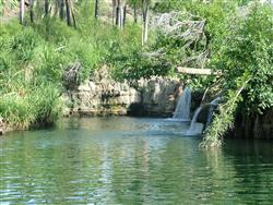 A favourite swimming hole only accessible by kayak