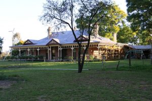 The magnificent historic Bindara homestead.