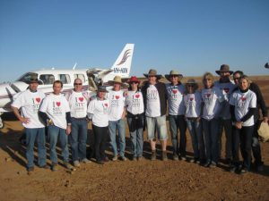 A 40th birthday party with a difference. An air safari from Melbourne descends on Birdsville on race weekend.