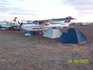 Sleeping under the wing. It's a Birdsville thing. (Pic R Noonan)