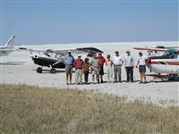Happy African Aero safari customers from Canada on a past safari