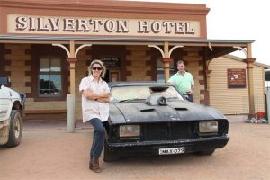 Max Max memories, Silverton, just outside Broken Hill. Pete and Shelley Ross