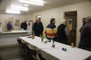 Our hosts join us for dinner in the Shearers' Quarters.