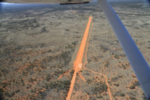 No trouble finding the airstrip. It stands out like the proverbial, and is visible from just about Birdsville!