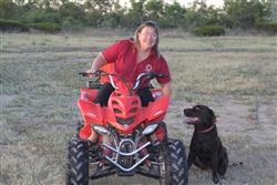 Manager, Michelle Low Mow on an early morning ride at Adels