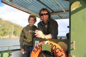 Raconteur and all-round great guy, Captain Sponge and his deckie son Henry gave us all a fascinating experience on the lake. Check out magicaloystertours.com.au