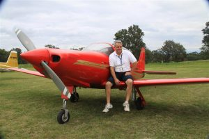 Now back to all things aviation, Neil Bourke with his much loved Falco at Frogs Hollow.