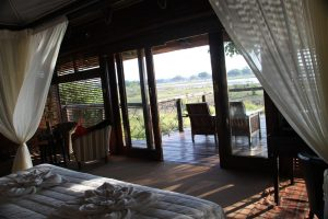 Take three steps out of bed and you're leaning over the Zambezi.