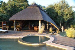 The breakfast room at Chikwenya, Zimbabwe