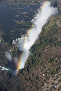 And the rainbow even came out! Oh God, above Victoria Falls & more tears!