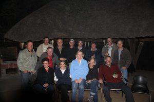 Whole crew - African Aero Safari - final night, Grundy's Lodge, Botswana.