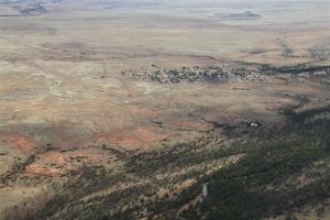 The outback town of Boulia, on the Burke river, and on the main Birdsville-Mt Isa road