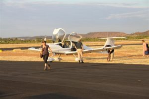 Alison stamped urgent to get to our lovely Red Earth hotel accomm at Mt Isa. Don't worry, Bruce'll tie the plane down.