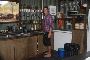 All thanks to Dave, our gorgeous chef. Talented, companiable and hated wearing shoes.