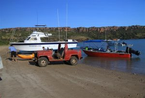Getting cranked up for a day on the water, visiting remote water-holes, deserted beaches ...