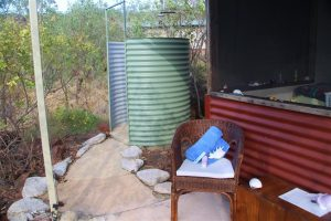 All the water here at Faraway Bay is spring water. This outside shower is hands-down the best shower I've ever had.