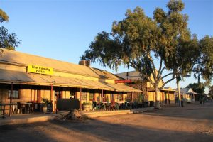 The Family Hotel at Tibooburra ... one of the two pubs in town ever-ready to quench those insatiable thirsts.