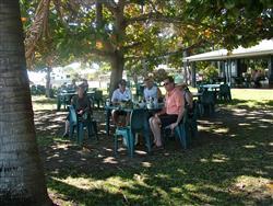 The beachfront Sunset Tavern beer garden at Karumba