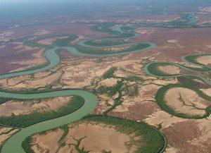Amazing tidal rivers around the gulf.