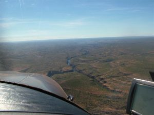 Flying overhead the nearby Katherine Gorge.