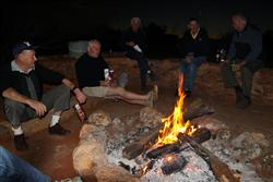Graeme Boatman and friends on campfire duty at Kings Creek Station