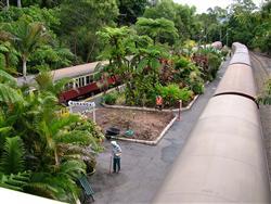 Olde world railway station at Kuranda, on the ranges behind Cairns
