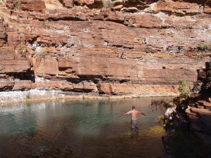 Pristine swimming at the waterholes.