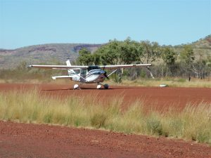 First of our fleet arrives at the airstrip at Karijini