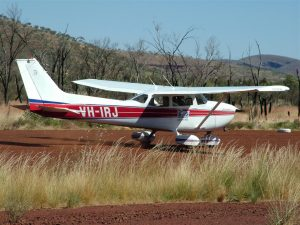 One of Stawell Aviation's well maintained C172s was hired by a private pilot and joined us on safari in the Pilbara.