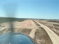 Landing at Coral Bay's Maud Landing airstrip