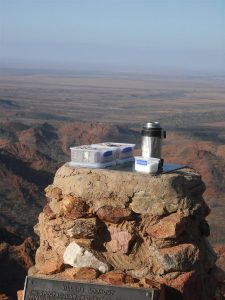 Lamingtons and a cuppa with the best view in the outback. Top of Siller's Lookout.