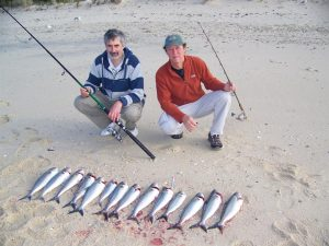 Karl and Tom couldn't get the grins off their faces all day. The fishing is good on Flinders; but get the lowdown from the locals on where to go.