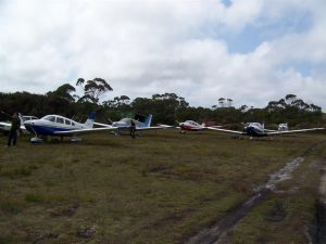 Plenty of parking for our fleet from Lilydale at Killiecrankie strip.