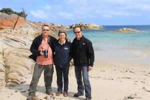 Richard, Shelley and Tom veered off the main path and found The Docks beach between Palana and Killiecrankie on Flinders